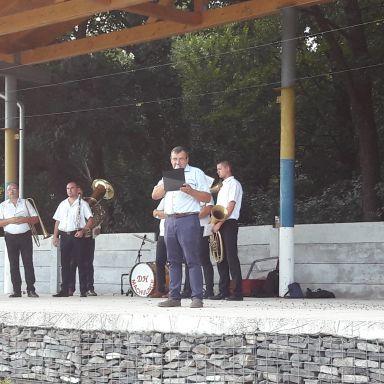 Príprava vatry a oslavy 76. výročia SNP 29.08.2020