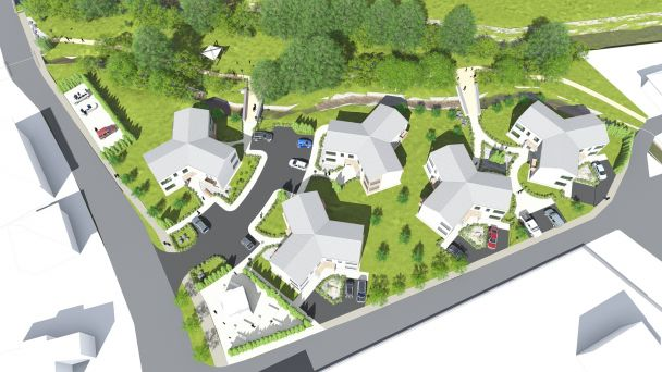 Obytná zóna Kroviny - vizualizácia