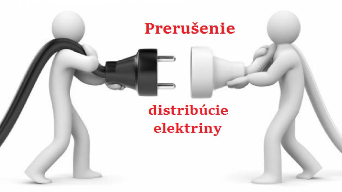 Prerušenie distribúcie elektriny dňa 04.11.2020