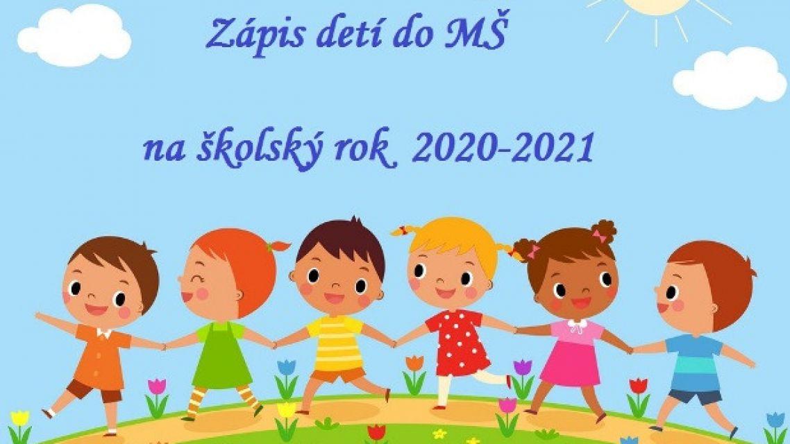 Zápis detí do materskej školy na školský rok 2020/2021
